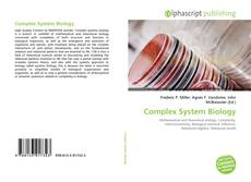 Bookcover of Complex System Biology