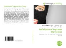 Bookcover of Definitions of Japanese War Crimes