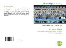 Bookcover of 1 Lincoln Plaza