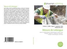 Borítókép a  Mesure de Lebesgue - hoz