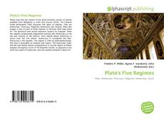 Bookcover of Plato's Five Regimes