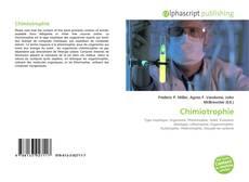 Couverture de Chimiotrophie