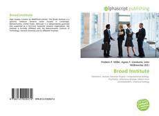 Bookcover of Broad Institute