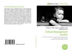 Buchcover von Critical Management Studies