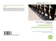 Japanese Military Equipment of World War II kitap kapağı