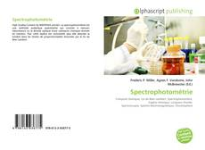 Bookcover of Spectrophotométrie