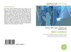 Capa do livro de Henri Lefebvre