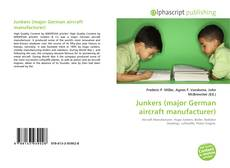 Bookcover of Junkers (major German aircraft manufacturer)