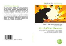 Обложка List of African Mammals