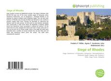 Couverture de Siege of Rhodes