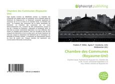 Bookcover of Chambre des Communes (Royaume-Uni)