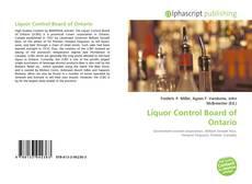 Capa do livro de Liquor Control Board of Ontario