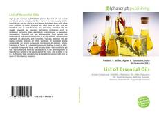 Bookcover of List of Essential Oils