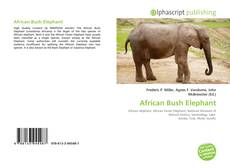 Bookcover of African Bush Elephant