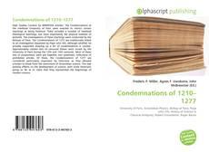 Buchcover von Condemnations of 1210–1277