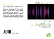 Mikhail Okhitovich的封面