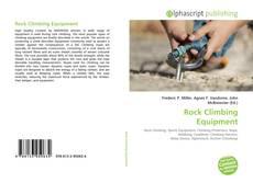 Rock Climbing Equipment kitap kapağı
