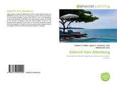 Portada del libro de Dietrich Von Altenburg