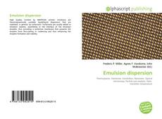 Bookcover of Emulsion dispersion