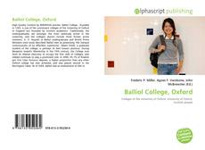 Capa do livro de Balliol College, Oxford
