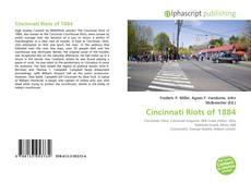Обложка Cincinnati Riots of 1884