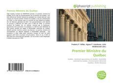 Обложка Premier Ministre du Québec