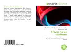 Couverture de Univers Fini de Friedmann
