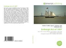 Couverture de Embargo Act of 1807