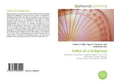 Bookcover of Index of a Subgroup