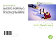 McCoy Manufacturing的封面