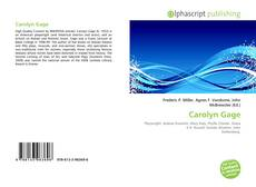 Bookcover of Carolyn Gage