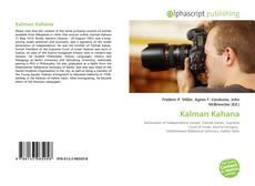 Couverture de Kalman Kahana