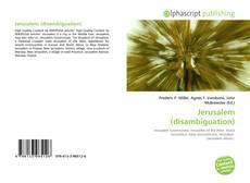 Bookcover of Jerusalem (disambiguation)