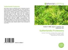 Bookcover of Sutherlandia Frutescens
