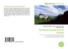 Buchcover von Archduke Joseph Karl of Austria