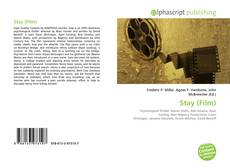 Bookcover of Stay (Film)