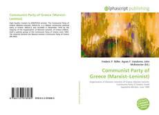 Couverture de Communist Party of Greece (Marxist–Leninist)