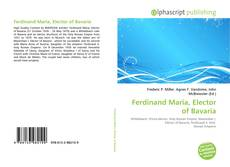 Bookcover of Ferdinand Maria, Elector of Bavaria