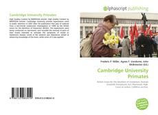 Cambridge University Primates的封面