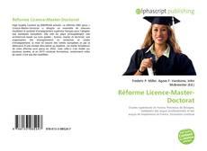 Couverture de Réforme Licence-Master-Doctorat