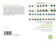 Обложка Distinguished Constructor Award