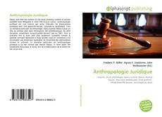 Bookcover of Anthropologie Juridique