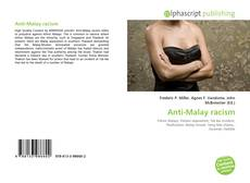 Bookcover of Anti-Malay racism