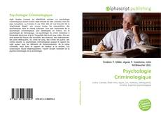 Buchcover von Psychologie Criminologique