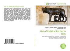 Buchcover von List of Political Parties in Italy