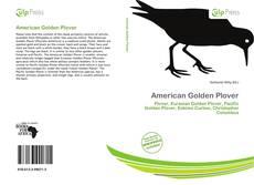 American Golden Plover kitap kapağı