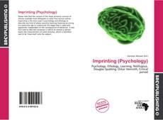 Capa do livro de Imprinting (Psychology)