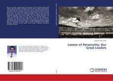 Bookcover of Lesson of Personality: Our Great Leaders