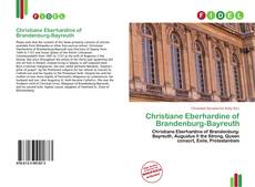 Capa do livro de Christiane Eberhardine of Brandenburg-Bayreuth