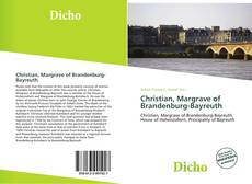 Portada del libro de Christian, Margrave of Brandenburg-Bayreuth